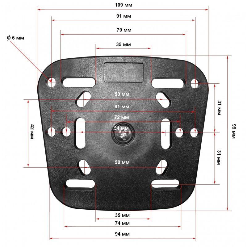 Float Tube Fishfinder Mount - Seven Bass Design